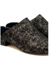 Tracey Neuls black and gold furry shoes womens shoes buy online