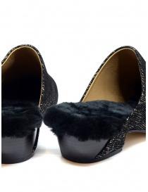 Scarpe Tracey Neuls con pelliccia nere e oro calzature donna prezzo