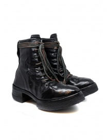 Womens shoes online: Carol Christian Poell AF/0906 black combat boots with laces