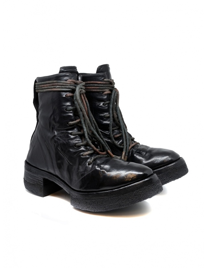 Carol Christian Poell AF/0906 black combat boots with laces AF/0906-IN CORS-PTC/010 womens shoes online shopping
