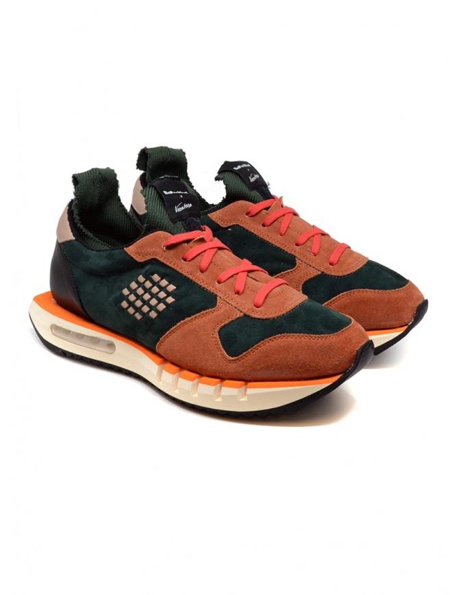 Sneakers BePositive Cyber arancio e verde 9FCYBER02/SUE/GRE-CYBER PLUS calzature uomo online shopping