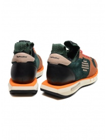 BePositive Cyber orange and green leather sneakers price