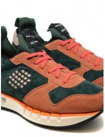 Sneakers BePositive Cyber arancio e verde calzature uomo acquista online
