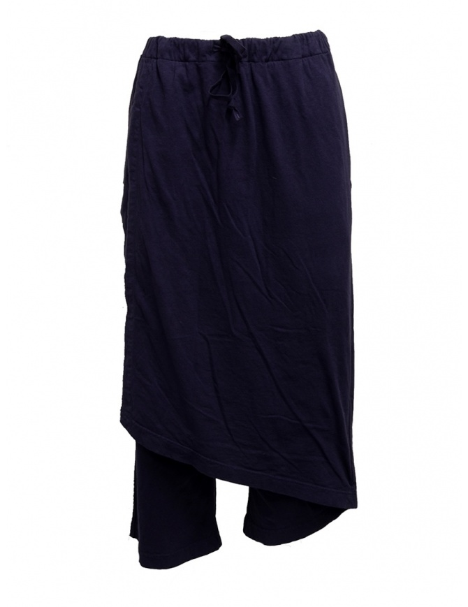 Kapital soft cotton navy trousers EK-745 PURPLE-NAVY womens trousers online shopping