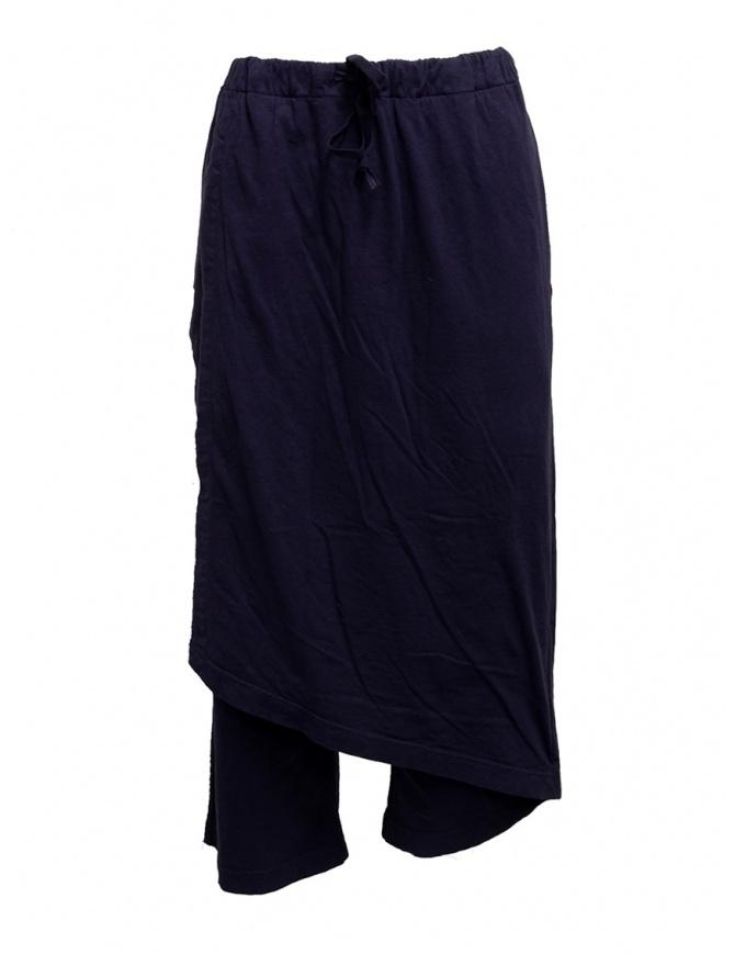 Pantaloni Kapital in morbido cotone blu navy EK-745 PURPLE-NAVY pantaloni donna online shopping