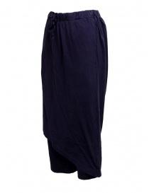 Pantaloni Kapital in morbido cotone blu navy