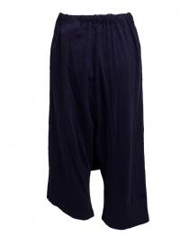 Pantaloni Kapital in morbido cotone blu navy prezzo