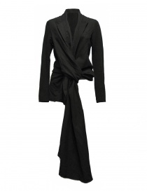 Womens suit jackets online: Marc Le Bihan black knotted suit jacket