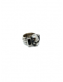 ElfCraft ring skull with two rectangular onyx stones online