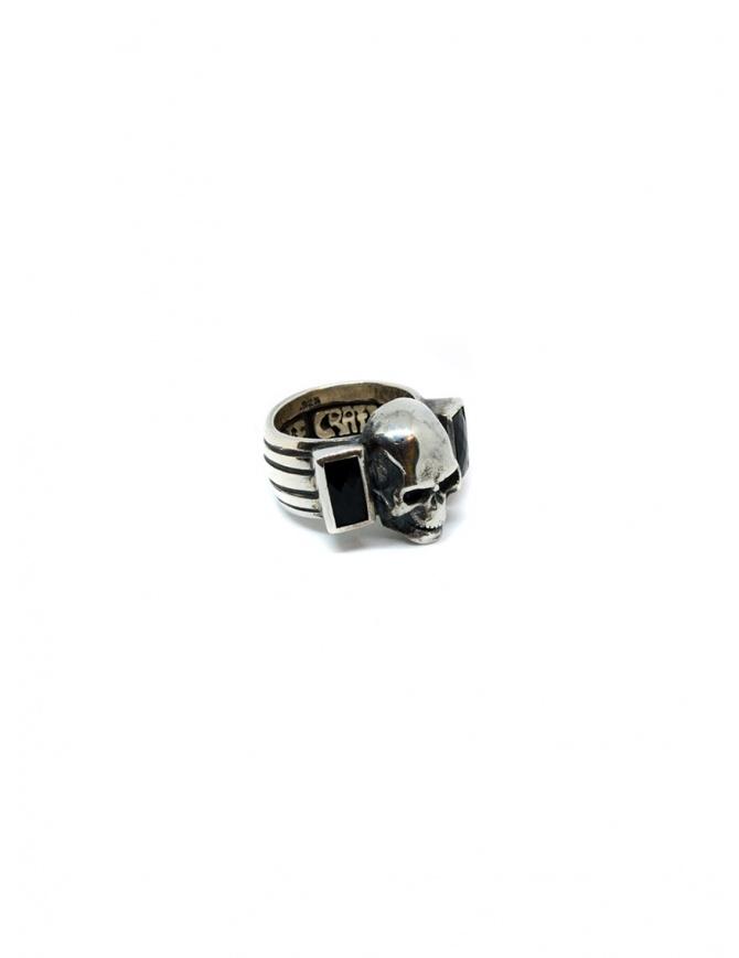 Anello ElfCraft con teschio e due pietre onice rettangolari 800.310 RING SKULL preziosi online shopping