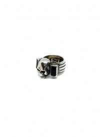 ElfCraft ring skull with two rectangular onyx stones price