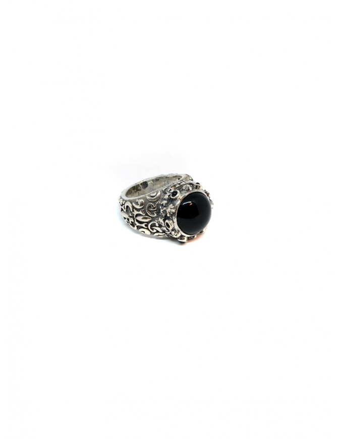 ElfCraft ring Garden at night with onyx stone 800.330.27 60 GARDEN jewels online shopping