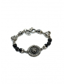 ElfCraft bracelet with lion coin and onyx 288.299.COIN BRACELET
