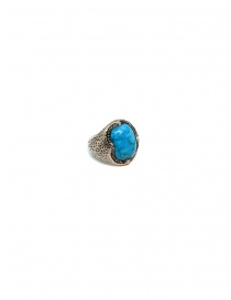 Elfcraft ring crown with turquoise stone DF800.402HAM