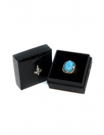 Elfcraft ring crown with turquoise stone jewels price