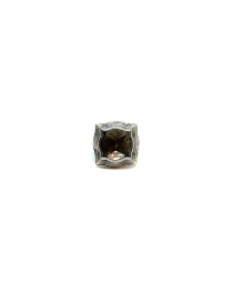 Elfcraft round baroque ring with lily and smoky quartz buy online