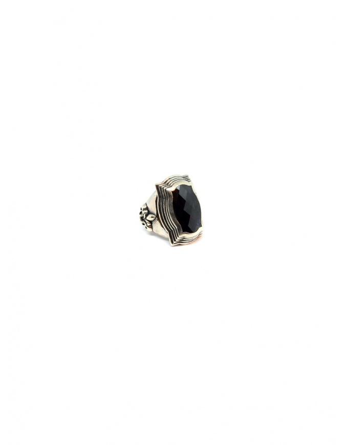 Anello Elfcraft barocco con gigli e pietra di quarzo ametista 800.433SLi preziosi online shopping
