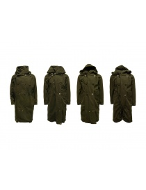 Kapital khaki coat with multiple closures