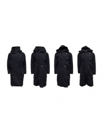 Kapital black coat with multiple closures buy online