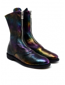 Womens shoes online: Guidi 310 laminated rainbow horse leather boots