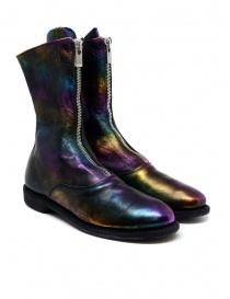 Calzature donna online: Stivale Guidi 310 in pelle di cavallo laminata arcobaleno