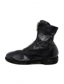 Black leather ankle boots 210 Guidi buy online