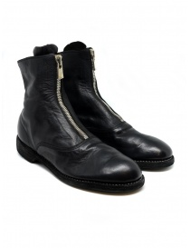 Black leather ankle boots 210 Guidi 210 SOFT HORSE FULL GRAIN BLKT