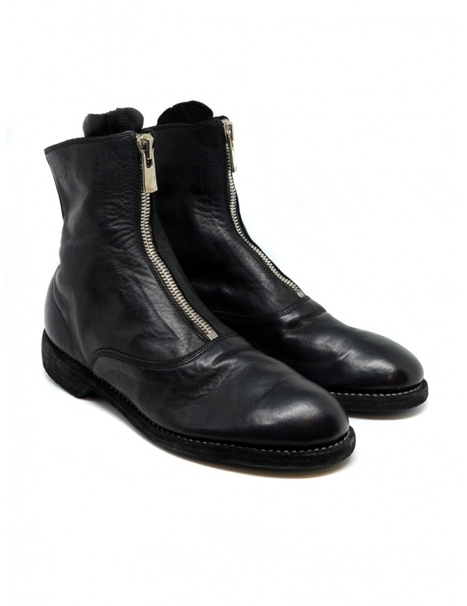 Black leather ankle boots 210 Guidi 210 SOFT HORSE FULL GRAIN BLKT womens shoes online shopping