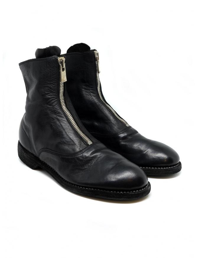Stivaletto Guidi 210 in pelle nera 210 SOFT HORSE FULL GRAIN BLKT calzature donna online shopping