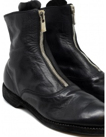 Black leather ankle boots 210 Guidi womens shoes buy online