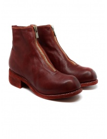 Womens shoes online: Guidi PL1 red horse full grain leather boots
