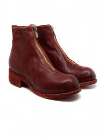 Calzature donna online: Stivali Guidi PL1 rossi in pelle di cavallo pieno fiore