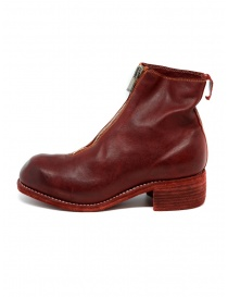 Stivali Guidi PL1 rossi in pelle di cavallo pieno fiore