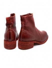 Stivali Guidi PL1 rossi in pelle di cavallo pieno fiore prezzo