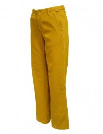Napapijri pantaloni chino Mora velluto giallo