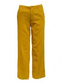 Napapijri pantaloni chino Mora velluto giallo online