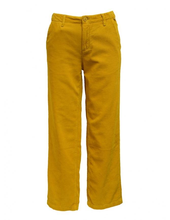 Napapijri pantaloni chino Mora velluto giallo NA4DW5Y51 MORA W 1 GOLD/YEL pantaloni donna online shopping