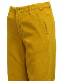 Napapijri pantaloni chino Mora velluto giallo pantaloni donna acquista online