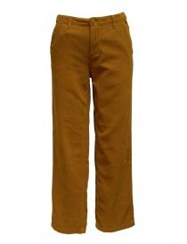 Napapijri pantaloni velluto Mora marrone dorato online