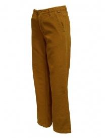 Napapijri pantaloni velluto Mora marrone dorato
