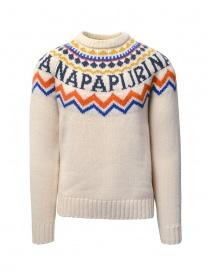 Napapijri crew-neck jumper Dune white online