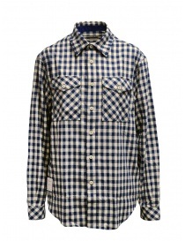 Napapijri blue and beige checkered Gillys shirt N0YIZP21C GILLYS BEIGE CHECK order online
