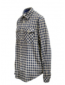 Napapijri blue and beige checkered Gillys shirt