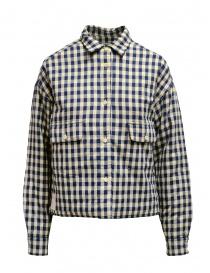 Napapijri giacca Gires a quadri blue e beige NP000JAO21C1 GIRES BEIGE CHECK order online