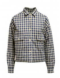 Napapijri Gires blue and beige checked jacket NP000JAO21C1 GIRES BEIGE CHECK order online
