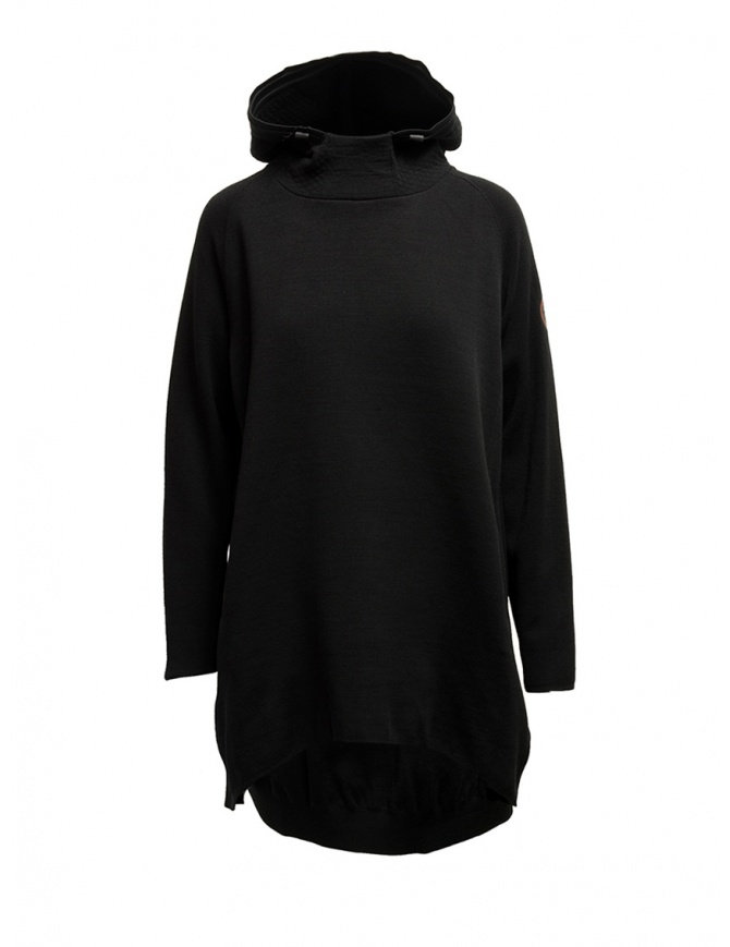 Napapijri Ze-Knit felpa Ze-K245 con cappuccio nera N0YKB4041 ZE-K245 BLACK maglieria donna online shopping