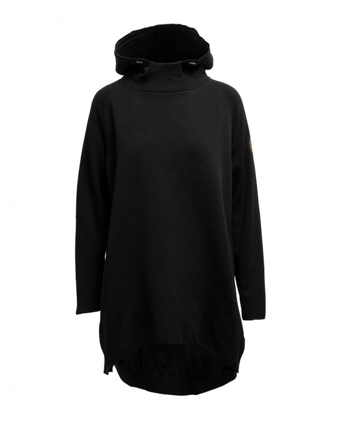 Napapijri Ze-Knit Ze-K245 black hooded sweatshirt N0YKB4041 ZE-K245 BLACK womens knitwear online shopping
