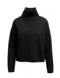 Napapijri Ze-Knit black sweatshirt with high collar online