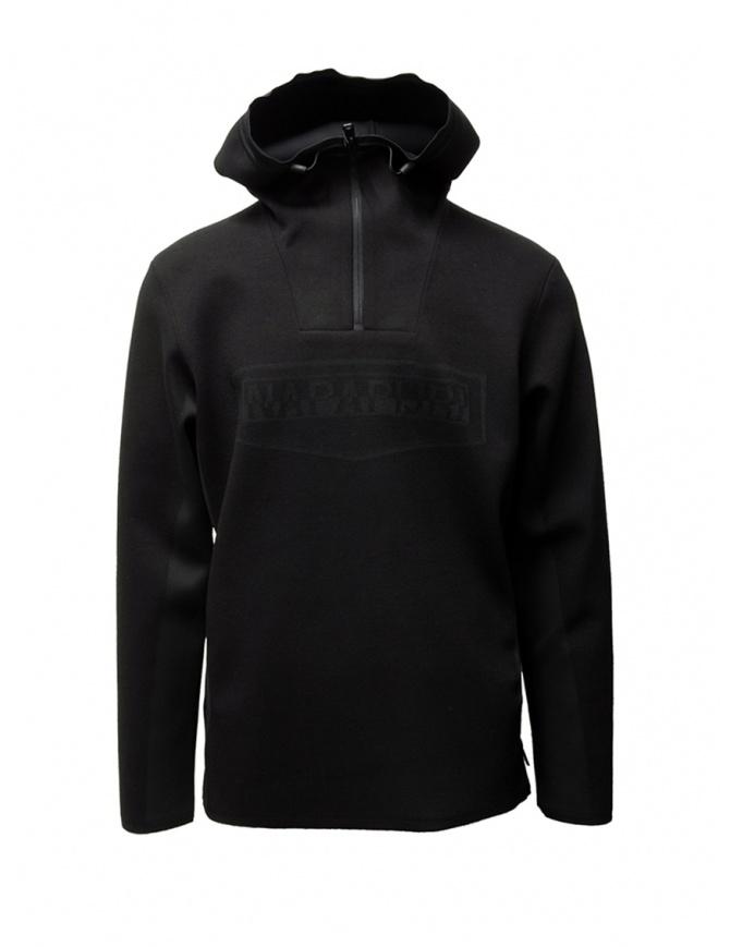 Napapijri Ze-Knit felpa Ze-K232 con cappuccio nera N0YKBG041 ZE-K232 BLACK maglieria uomo online shopping