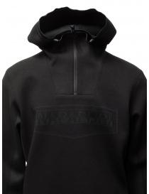 Napapijri Ze-Knit felpa Ze-K232 con cappuccio nera maglieria uomo acquista online